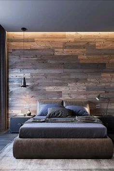 reason we love industrial bedroom decor is harmony between big space and co. - Main reason we love industrial bedroom decor is harmony between big space and coziness. Know more a -Main reason we love industrial bedroom decor is harmony between big. Luxury Bedroom Design, Home Interior Design, Bedroom Designs, Suites, Minimalist Bedroom, Home Decor Bedroom, Master Bedroom, Master Suite, Loft Style Bedroom