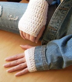 Crocheted Wrist Warmers/Fingerless Gloves - Pick A Color