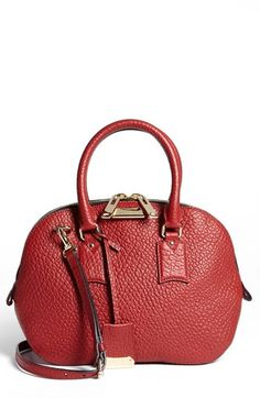 Burberry 'Small Heritage Orchard' Leather Satchel available at #Nordstrom