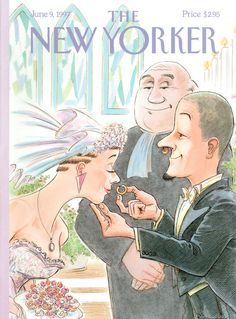 """The New Yorker - Monday, June 9, 1997 - Issue # 3755 - Vol. 73 - N° 15 - Cover """"Modern Marriage"""" by George Riemann"""
