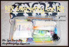 Blue Eyed Beauty Blog: DIY Car Emergency Kit