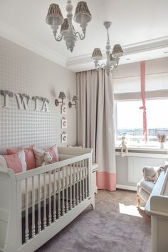 greige and pink for baby girl's room