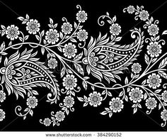 Paisley Floral Design Vector Image | 123Freevectors