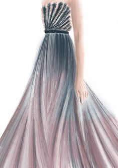 #drawing #dress #color #gradient #artwork #sketch #illustration #fashion #design #graphic #beauty #dior #violet #blue #dior