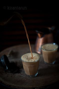 Teh Tarik - malaysian pulled tea. black tea leaves, water, condensed milk, evaporated milk. link to instructional video.