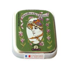 Освежающие леденцы из Франции со вкусом фиалки. В небольшой металлической коробке примерно 50 конфет пастилок... Suitcase, Lunch Box, Suitcases