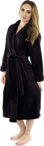 Absorbent Shawl Collar Ultra-Soft spa Robe NY Threads Women/'s Fleece Bathrobe
