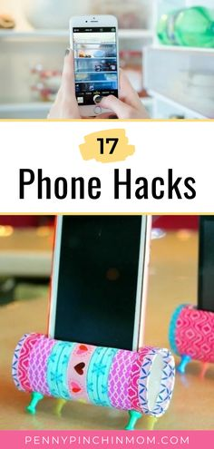 """Our phones are more than phones. They keep track of appointments, are used to stream our favorite tunes, keep us organized….and SO much more! Here are 17 absolutely brilliant phone hacks that will leave you thinking """"Why didn't I know this!!?"""" Fun Crafts For Kids, Easy Diy Crafts, Diy For Kids, Budget Crafts, Phone Hacks, Easy Craft Projects, Appointments, Diy Tutorial, Helpful Hints"""