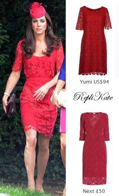 New repliKate styles of the Collette Dinnigan red lace dress have been added to the website.