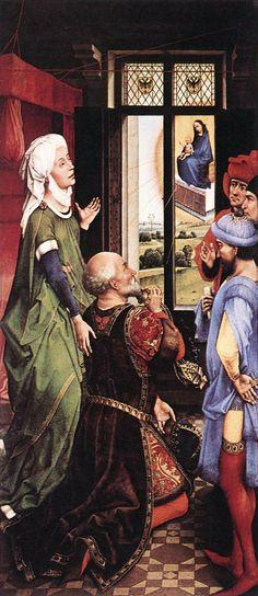 Pierre Bladelin Triptych - left panel by Rogier van der Weyden #art