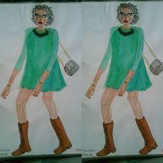 More than one year ago... #style #stylist #fashion #fashionillustration #illustration #design #designer #fashiondesign #fashiondesigner