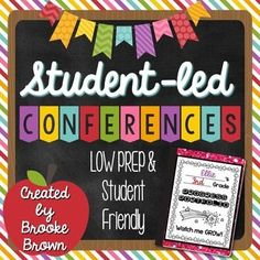 "This pack contains everything you need to implement student-led conferences in a ""Portfolio Night"" format in your classroom (Grades 1-5).Page 2: How to Prepare and Implement Student-Led ConferencesPage 3: EDITABLE Letter to ParentsPage 4: Portfolio CoverPage 5: Student Checklist:Page 6-8: Student Se..."