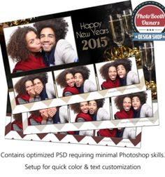 amazing new years eve photo booth templates by pbo design shop