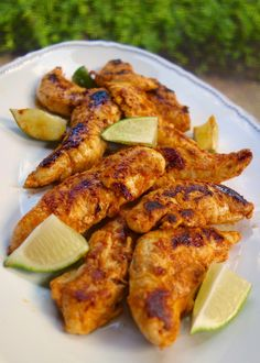 Buffalo Lime Chicken - chicken marinated in buffalo sauce and lime - grill, pan sear or bake for a quick weeknight meal. Ready to eat in 15 minutes!