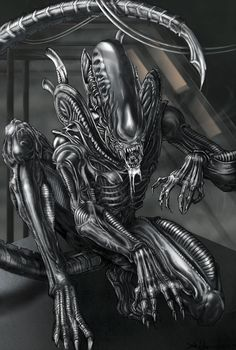 "This is a tumble-log devoted to the ""Alien"" and ""Predator"" film franchises, especially designs by HR Giger (and direction from directors Ridley Scott, James Cameron, et al). Alien Vs Predator, Predator Movie, Predator Alien, Les Aliens, Aliens Movie, Aliens And Ufos, Art Alien, Alien Film, Giger Art"