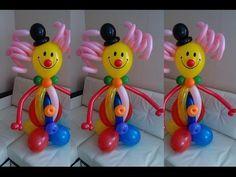 Клоун из воздушных шаров своими руками. Clown made of balloons with their hands. - YouTube