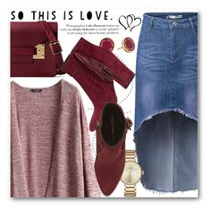 """This is love"" by stylemoi-offical ❤ liked on Polyvore featuring Sophie Hulme, Marc by Marc Jacobs, Rebecca Minkoff, oxblood and stylemoi"