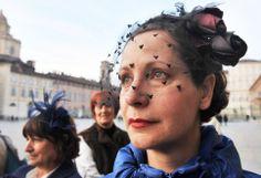 All'inaugurazione di 'Chapeau, Madame' - Palazzo Madama, Torino (2014)