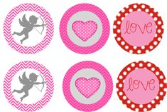 FREE Valentine's Day bottlecap images