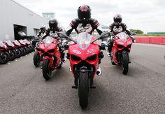 California Superbike School UK on their ContiSportAttack 2 shod Ducati track bikes.