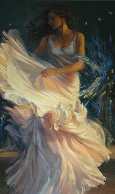 Flamenco (artwork by Elena Kukanova) Prophetic Art, Wow Art, Art Academy, Dance Art, Beautiful Paintings, Belle Photo, Oeuvre D'art, Female Art, Painting & Drawing