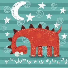 Cute, funny, crazy dinosaur characters P. Drawing For Kids, Art For Kids, Dinosaur Illustration, Mural Wall Art, Dinosaur Party, Cute Cartoon Wallpapers, Baby Decor, Cute Drawings, Cute Art