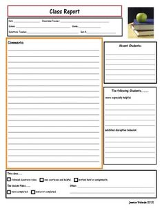 FREEBIE!!!! This product includes 3 substitute teacher note forms ...