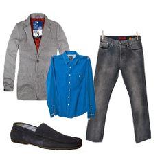 Spodnie #Hugo Boss (butik #Wzorcownia), Koszula XDYE (butik Wzorcownia), Marynarka #House, Mokasyny Pier One