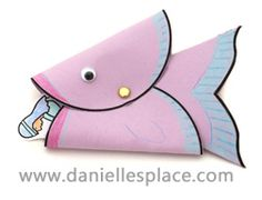 Whale Puppet Bible Craft for Jonah and the Whale