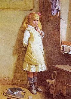 In The Corner  ~ Carlton Alfred Smith ~ (English 1853-1946)