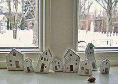 Ceramic Houses Tile Tiny Houses Art Amp Craft Pinterest