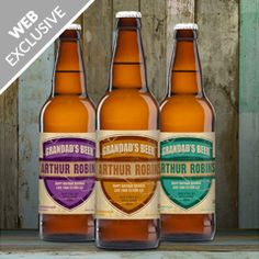 Personalised 3 Pack Grandad's Beer Set
