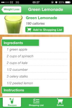 Weight loss juice.