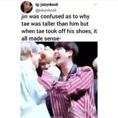 The reaction of Jin 😂 - Bts - Babycan Bts Jin, Bts Namjoon, Bts Bangtan Boy, Bts Boys, Seokjin, Jung Hoseok, Bts Memes Hilarious, Bts Funny Videos, Funny Tweets