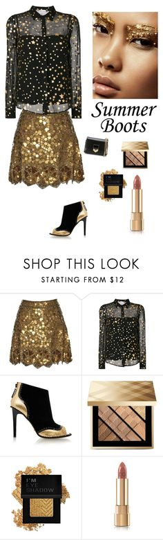 """Summer Glam"" by kotnourka ❤ liked on Polyvore featuring Matthew Williamson, RED Valentino, Kat Maconie, Burberry, Forever 21, Dolce&Gabbana and Jimmy Choo"