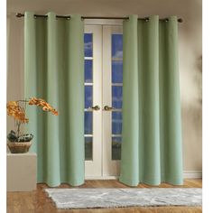 Sage Weathermate Thermalogic Insulated Grommet Top Solid Color Curtain Pair By Commonwealth Home Fashions - Are you having a problem finding curtains for your living room that serve a dual purpose? Insulated Panels, Insulated Curtains, Thermal Curtains, Grommet Curtains, Drapes Curtains, Curtain Panels, Window Panels, Drapery, Blackout Curtains