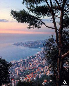 The amazing #Jounieh by sunset By @layalkarneeb #WeAreLebanon #Lebanon…