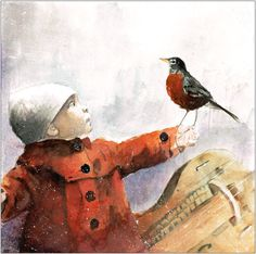 T.ETNO - a little girl with robin