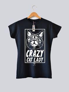 Womens Cat T-Shirt Womens Cat Tee Ladies Cat Top by BenPrints