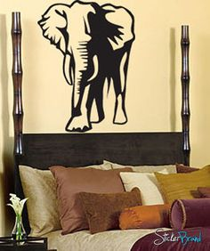 Vinyl Wall Art Decal Sticker Lucky Elephant Decoration #142 | Stickerbrand wall art decals, wall graphics and wall murals.