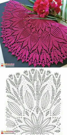 Crochet Table Runner Pattern, Free Crochet Doily Patterns, Crochet Doily Diagram, Crochet Flower Tutorial, Crochet Circles, Crochet Tablecloth, Crochet Dreamcatcher, Crochet Patron, Crochet Carpet