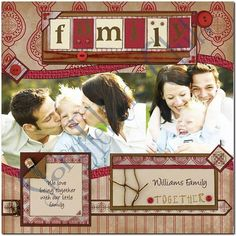 family scrapbook layouts | Family Digital Scrapbook Layout #1
