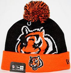 Cincinnati Bengals New Era NFL Woven Biggie 2 Cuffed Knit Hat ** Learn more by visiting the image link.