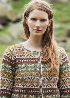 Ravelry: Chestnut pattern by Marie Wallin Fair Isle Knitting Patterns, Fair Isle Pattern, Knit Patterns, Stitch Patterns, Vintage Knitting, Hand Knitting, Punto Fair Isle, Norwegian Knitting, Cardigan Design