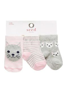 8515e0bc930 Baby novelty socks- pack of 3 pairs. Designs exclusive to Seed Heritage.  Cotton · Baby Girl FashionKids ...