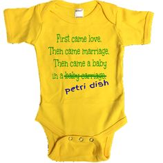 Print the IVF-LMBPD Waiting to be Parents design on .  Monag Interlock Short Sleeve BodySuit is composed of 6.0 - 6.5 oz 100% Ring spun combed cotton and has a double needle stitch binding neck, sleeve & bottom with 3 snap buttons. Yellow