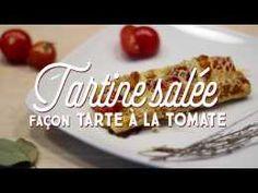 Tartine salée façon Tarte à la tomate