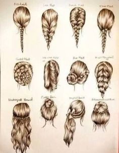 Different kinds of hairstyles <3