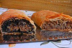 Kiskukta konyhája: Mákos-birsalmás és diós-birsalmás rétes Filo Pastry, Spanakopita, Food And Drink, Ethnic Recipes, Dios, Filo