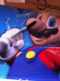 Ohhh- Mario Kart party coming up at our house! How to make a simple Pin the Mustache on Mario party game -- fun!